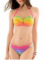 Graphic Strappy Bikini Set