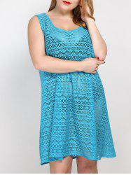 Plus Size See Thru Cover Up Beach Dress