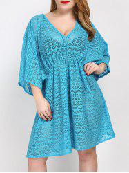 Plus Size V Neck Cover Up Dress
