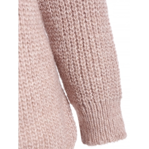 Ring Embellished High Low Ribbed Sweater -