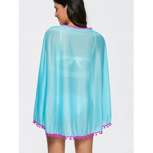 Poncho Fringed Beach Swing Tunic Cover Up Dress -