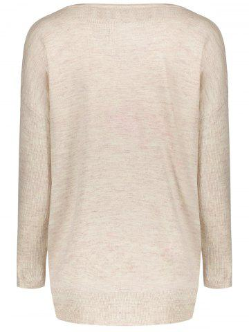 Latest Long Sleeve Christmas Deer Jumper - ONE SIZE(FIT SIZE XS TO M) BEIGE Mobile