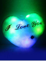 Love Heart Shape Variable Color Luminescence Pillow
