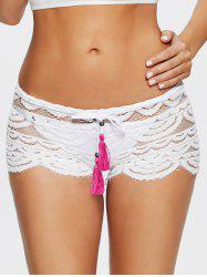 Sexy Hollow Out Scalloped Lace Shorts