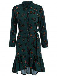 Floral Flounce Mermaid Casual Dress Fall