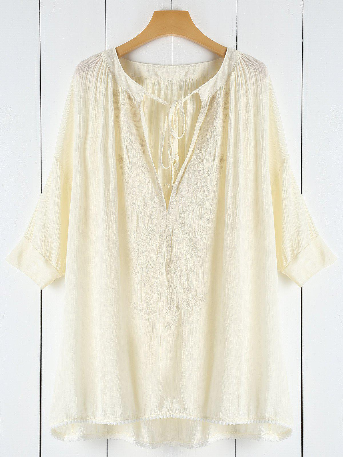 Shops Plunging Neck Lace See-Through Women's Cover-Up