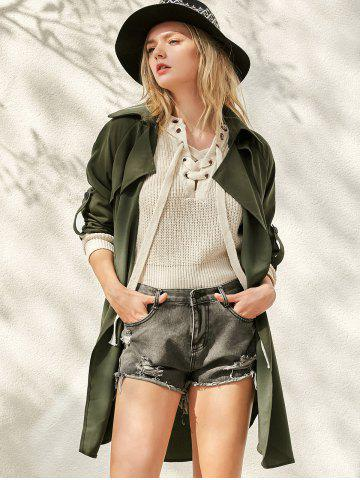 Sale Waterfall Buttoned Trench Coat