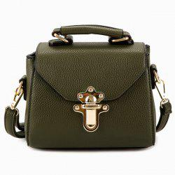 Faux Leather Studded Crossbody Bag - ARMY GREEN