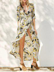 Floral Long Swing Wrap Beach Boho Dress