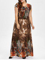 Plus Size Printed Bohemian Maxi Dress