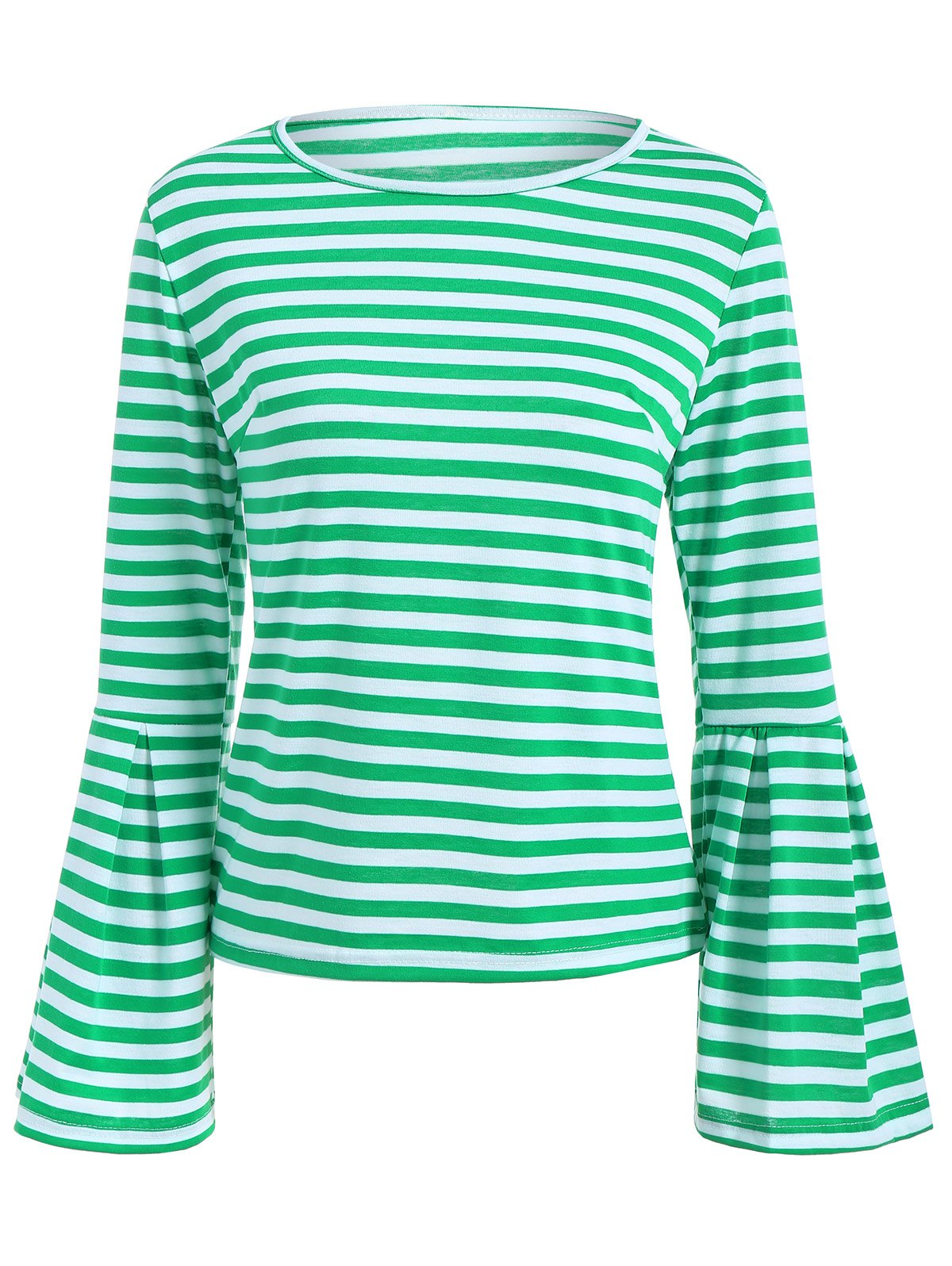 Hot Striped Bell Sleeve Tee