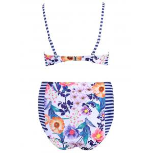 Cami Floral Print Cute High Waist Bikini Set -