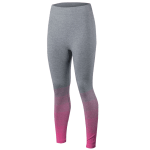 Gradient Color Sport Running Leggings - ROSE RED S