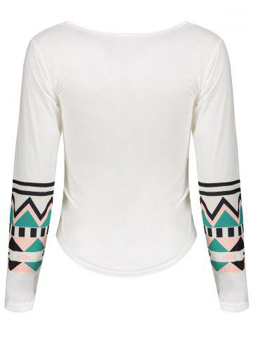 Online Color Block Geometry Pocket T-Shirt - XL OFF-WHITE Mobile