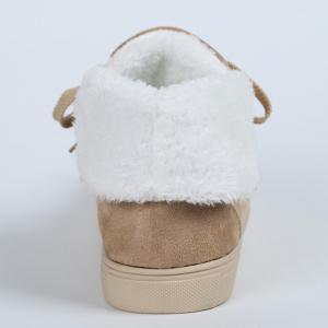 Fold Over Furry Lining Ankle Boots - KHAKI 35