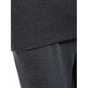 Active Cami Top With Drawstring Pants With Hoodie - GRAY XL