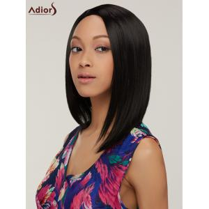 Straight Heat Resistant Side Bang Bob Synthetic Wig For Women -