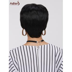 Short Straight Side Bang Capless Heat Resistant Synthetic Wig -