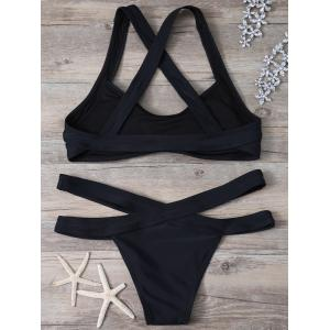 Criss Cross Cut Out Bikini Set - BLACK S