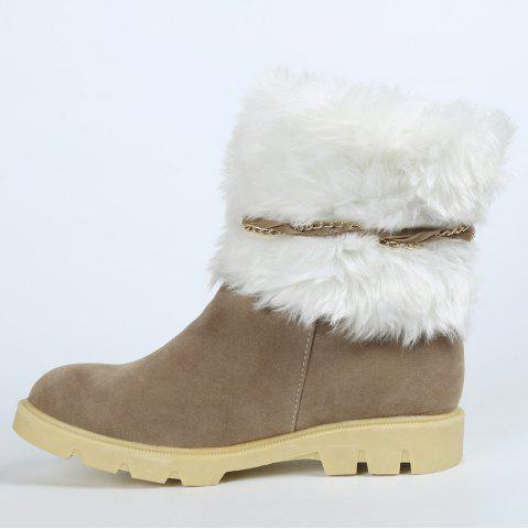 Outfits Cute Plush and Tassels Design Women's Snow Boots - 37 APRICOT Mobile