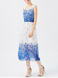 Printed Chiffon Sheer Swing Dress