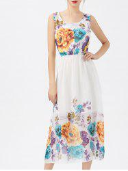 Floral Midi Chiffon Swing Dress