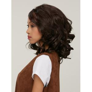 Stylish Curly High Temperature Fiber Women's Wig - COLORMIX