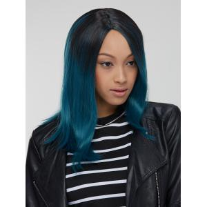 Attractive Synthetic Medium Straight Side Parting Mixed Color Wig -