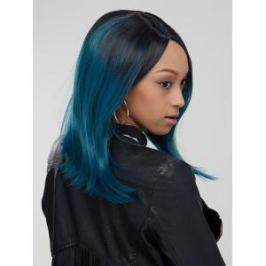 Attractive Synthetic Medium Straight Side Parting Mixed Color Wig - COLORMIX