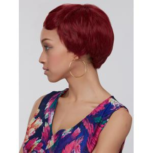 Wine Red Ombre Ultrashort Women's Synthetic Hair Wig -