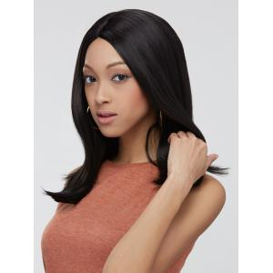 Synthetic Side Parting Medium Straight Wig -