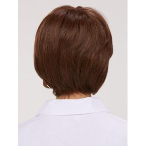 Fluffy Straight Capless Short Synthetic Wig - BROWN