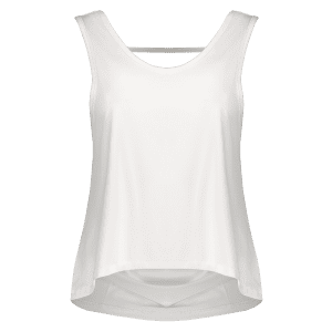 Sporty U Neck Backless Running Tank Top - WHITE M