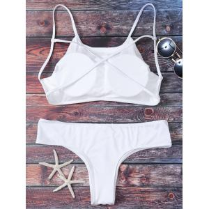 Cute Criss Cross Padded Bikini Bathing Suit -