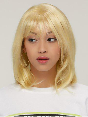 Latest Layered Short Golden Colormix Straight Side Bang Faddish Synthetic Hair Wig COLORMIX