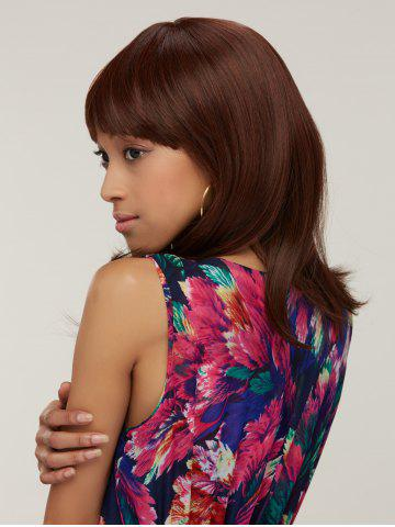 Silky Straight Capless Medium Full Bang Synthetic Wig