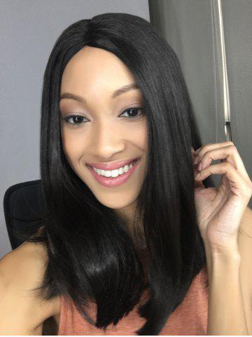 Outfits Synthetic Side Parting Medium Straight Wig BLACK