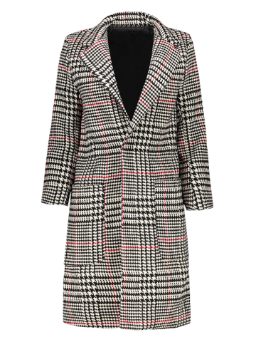 Latest Lapel Big Pocket Houndstooth Coat