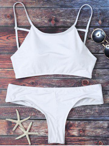 Discount Cute Criss Cross Padded Bikini Bathing Suit