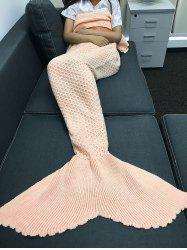 Knitting Rhombus Design Sequins Mermaid Tail Blanket