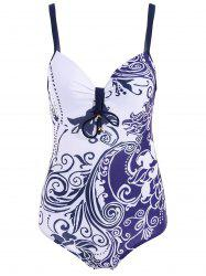 Womens's Sexy Hit Color Jacquard Print One Piece Swimwear