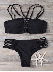Lace Up Hollow Out Bikini Set
