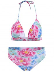 Stylish  Floral Print Bikini Set For Women