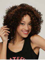 Prevailing Colormix Medium Side Parting Curly Synthetic Hair Wig