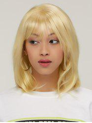Layered Short Golden Colormix Straight Side Bang Faddish Synthetic Hair Wig - COLORMIX