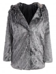 Hooded Faux Fur Bear Coat