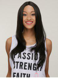 Silky Straight Capless Long Middle Part Synthetic Wig -