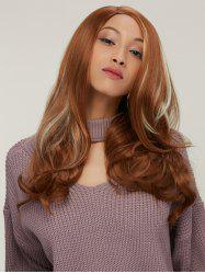 Long Wavy Side Parting Colormix Synthetic Hair Wig
