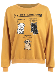 Pug Graphic Sweatshirt