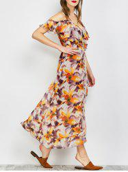 Bohemian Floral Flounce Long Swing Beach Dress